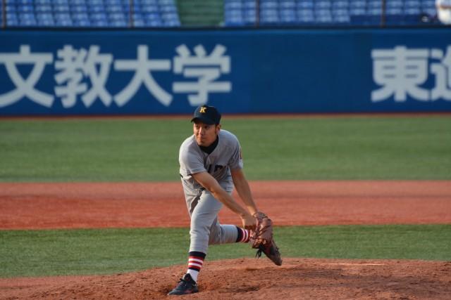 0519立教③ 2回無失点の好投を見せた瀧本