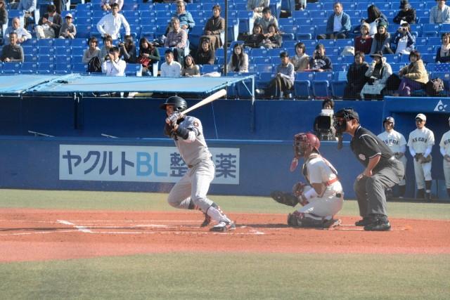 1104早稲田③ 3安打を放ちチームを鼓舞した山本泰