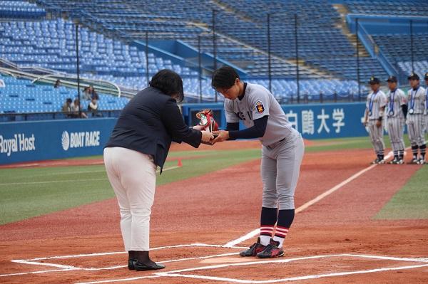 0616全日本準々決勝 東北福祉大学 今大会で首位打者賞を獲得した主将の河合